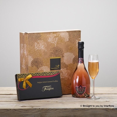 Sparkling Rose and Salted Caramel Truffles Gift Set