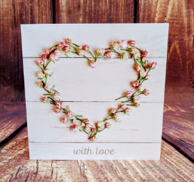 With Love  Heart Card
