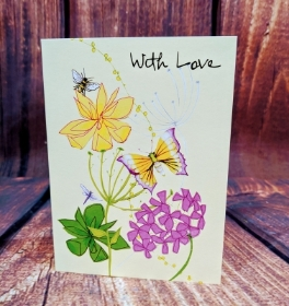 Butterfly with love card