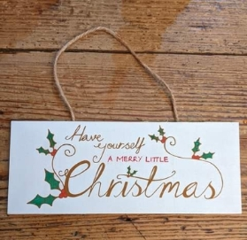 Merry Little Christmas Plaque